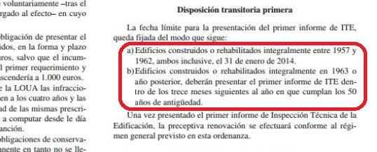 Ampliación de plazos para la ITE en Málaga